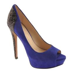 Women's Boutique 9 Cary Blue Suede/Black Glitter