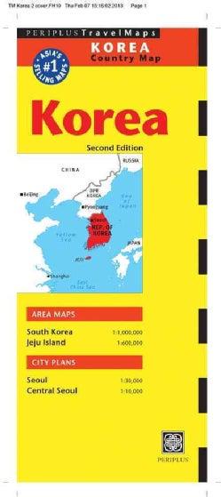 Periplus Travel Maps Korea Country Map: Korea & Seoul (Sheet map, folded)