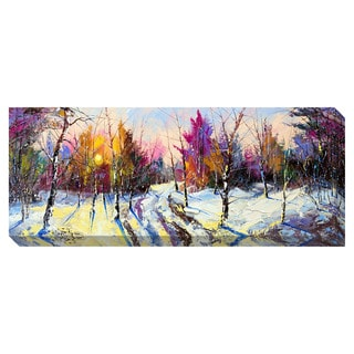 Vibrant Winter Sunset Oversized Gallery Wrapped Canvas