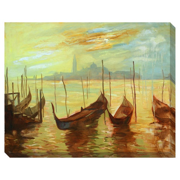 Venice Gondolas Oversized Gallery Wrapped Canvas