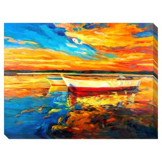 Lake Boats Oversized Gallery Wrapped Canvas