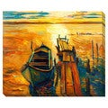 Boat Pier Oversized Gallery Wrapped Canvas
