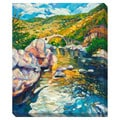 Bridge in the Mountains Oversized Gallery Wrapped Canvas