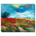 Flower Field Oversized Gallery Wrapped Canvas