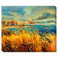 Sunset on the Lake I Oversized Gallery Wrapped Canvas