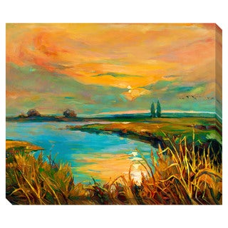 Sunset on the Lake II Oversized Gallery Wrapped Canvas
