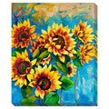 'Sunflowers' Oversize Gallery-Wrapped Canvas Art