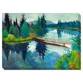 Mountain Lake Oversized Gallery-Wrapped Contemporary Canvas