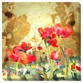 Poppies Oversized Contemporary Gallery Wrapped Canvas