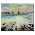 Frozen Lake Oversized Gallery Wrapped Canvas