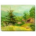 Country Cabin Oversized Gallery Wrapped Canvas