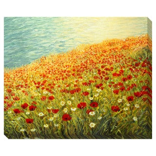 Poppies at the Seashore Oversized Gallery Wrapped Canvas