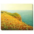 Poppies of the Cliff Oversized Gallery Wrapped Canvas