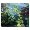 Lotus Flowers Oversized Gallery Wrapped Canvas