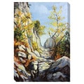 Marble Path in the Autumn Oversized Gallery Wrapped Canvas