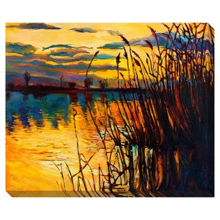Lake on the Sunset Oversized Gallery Wrapped Canvas