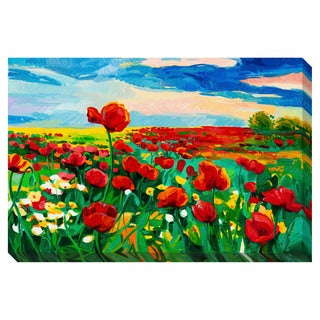 Poppy Fields Oversized Gallery Wrapped Canvas