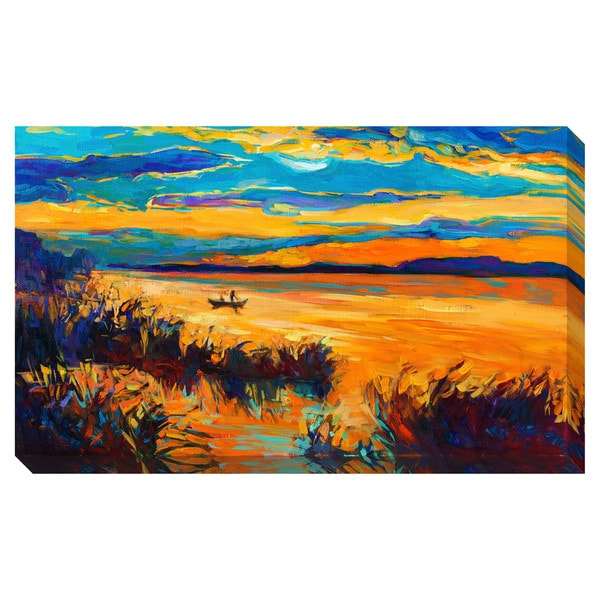 Boat on the Lake Oversized Gallery Wrapped Canvas