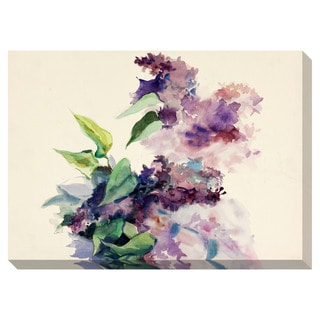 Abstract Purple Flowers Oversized Gallery Wrapped Canvas