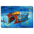 Boats on the Water Oversized Gallery Wrapped Canvas