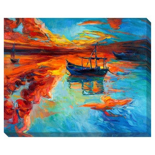 Boats at Sunrise Oversized Gallery Wrapped Canvas