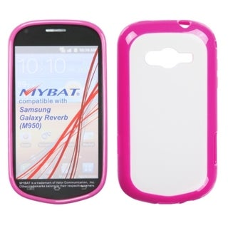 MYBAT Clear/ Pink Argyle Case for Samsung M950 Galaxy Reverb