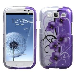 MYBAT Petunias Silver Case for Samsung Galaxy S III/ S3