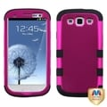 MYBAT Hot Pink/ Black Case for Samsung Galaxy S III/ S3
