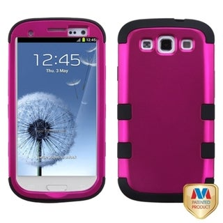 INSTEN Hot Pink/ Black Phone Case Cover for Samsung Galaxy S III/ S3