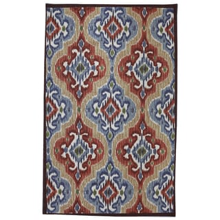 Indoor/Outdoor Primary Ikat Rug (5' x 8')
