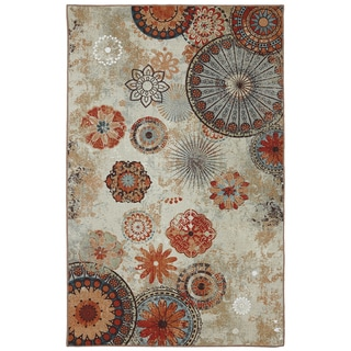 Indoor/Outdoor Medallion Multi Rug (8' x 10')