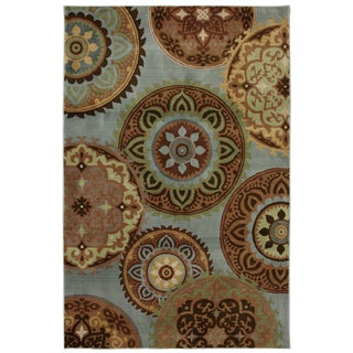 Jennifer Blue Medallion Rug (8' x 10')