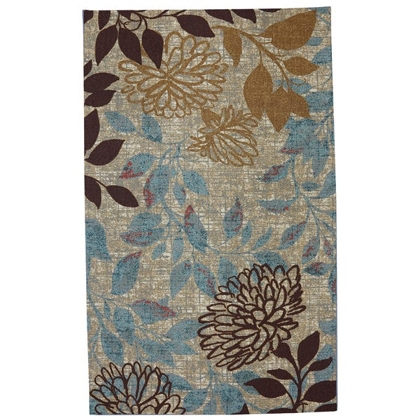 Indoor/Outdoor Angelica Floral Rug (8' x 10') - Overstock ... - photo#31