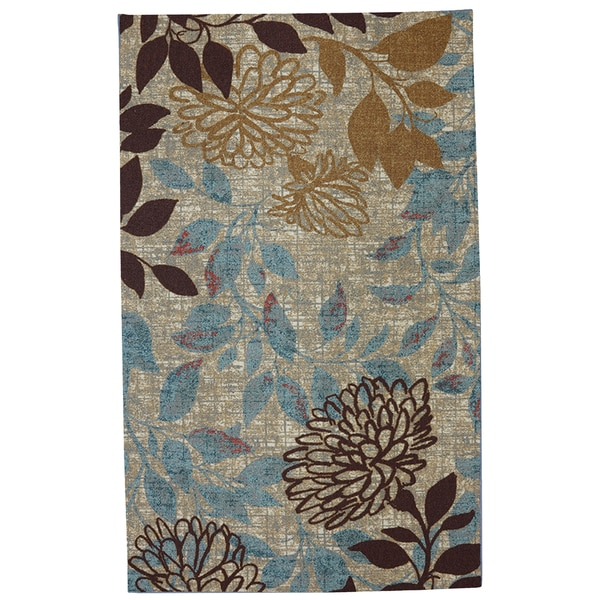 Indoor Outdoor Angelica Floral Rug 8 X 10 Overstock