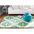 Indoor/Outdoor Floral Splash Rug (5' x 8')
