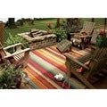 Indoor/Outdoor Metro Stripe Rug (5&#39; x 8&#39;)