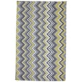 Indoor/Outdoor Parisian Chevron Rug (5' x 8')