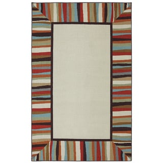 Indoor/Outdoor Bordered Patio Rug (8' x 10')