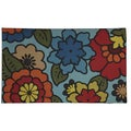 Oversized Floral Door Mat