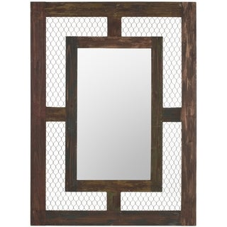 Safavieh Veronica Antique Brown Mirror