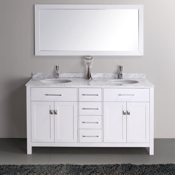 Kayleigh 60 inch double sink vanity set 15275331 shopping great deals on for Caroline 60 inch double sink bathroom vanity set