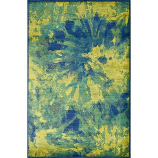 Skye Monet Island Blue Rug (3'9 x 5'2)
