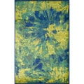 Skye Monet Island Blue Rug (3&#39;9 x 5&#39;2)