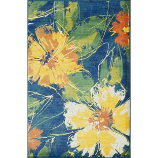 Skye Monet Cobalt Blue Rug (3'9 x 5'2)
