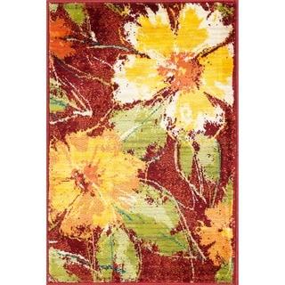 Skye Monet Hibiscus Rug (2'0 x 3'0)
