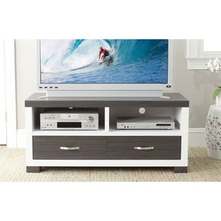 Safavieh Monroe Dark Gray Two-Drawer MDF TV Cabinet