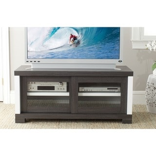 Safavieh Davis Storage Contemporary Dark Gray Sliding Door TV Cabinet