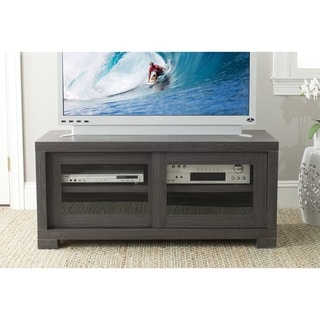 Safavieh Davis Dark Grey Sliding Door TV Cabinet