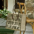 Leather Accent Jute 'Coffee Connoisseur' Tote Bag (Guatemala)
