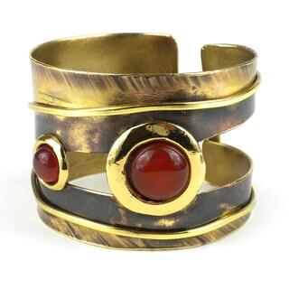 Carnelian Mountain Brass Cuff (South Africa)